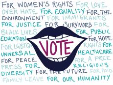 Get out the vote digital artwork