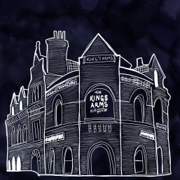 Digital poster art of The King's Arms, Salford